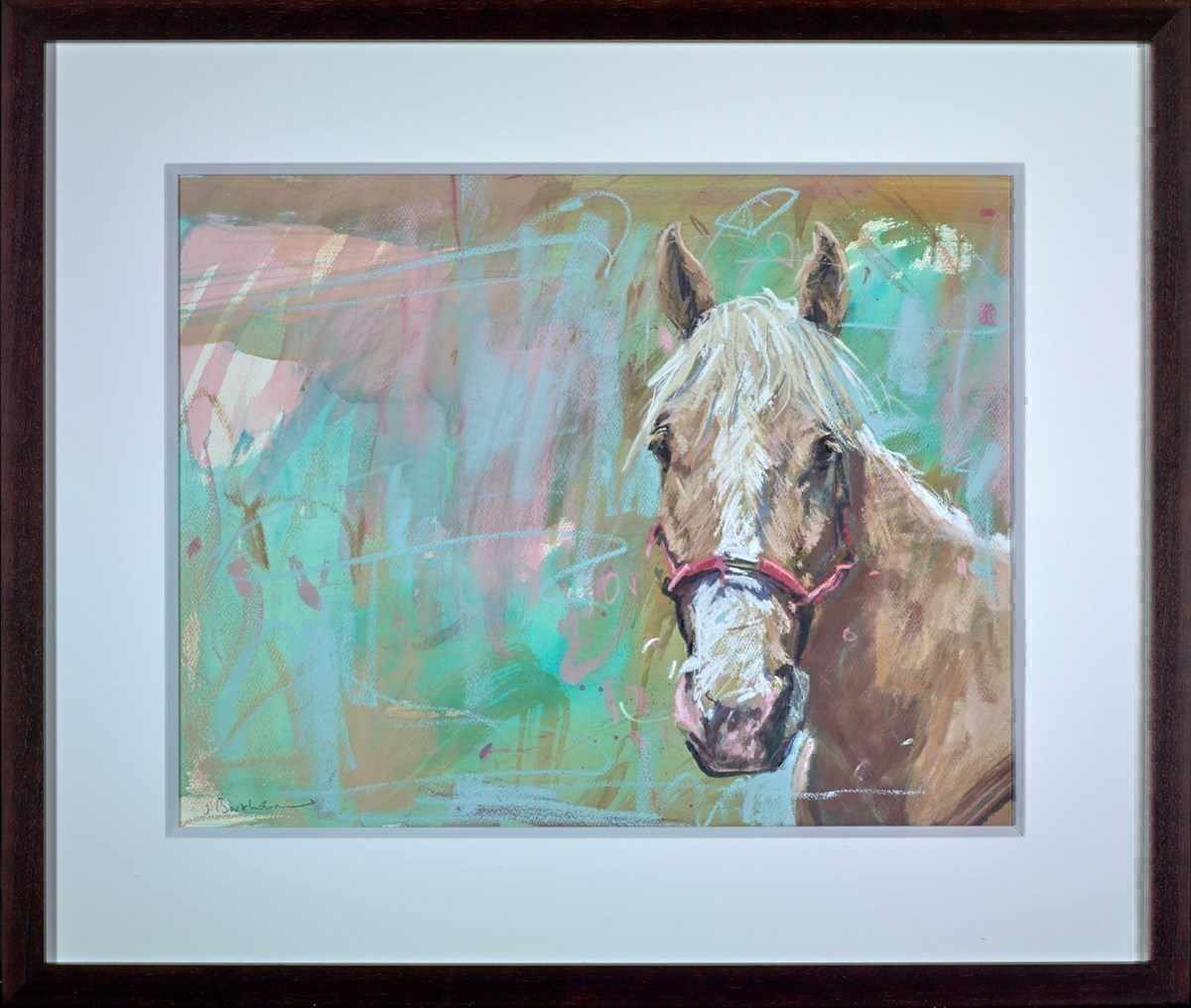 Palomino Ranch Horse by James Bartholomew -  sized 27x21 inches. Available from Whitewall Galleries